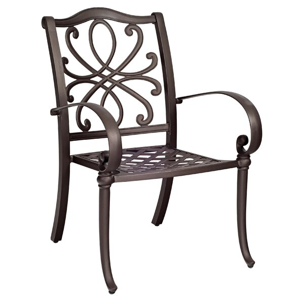 Holland Patio Dining Chair with Cushions by Woodard