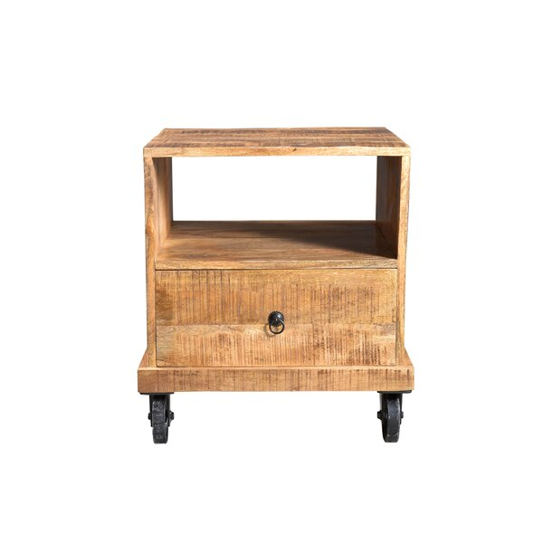 Cassius Industrial End Table by Millwood Pines