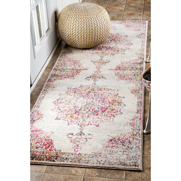 Darchelle Beige/Pink Area Rug by Mistana