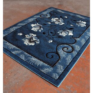 Blue/Black Area Rug By Rug Tycoon