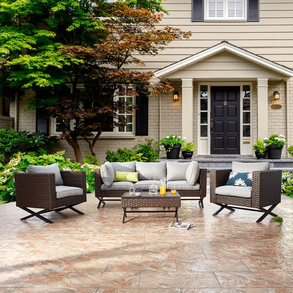 Rimersburg 6 Piece Sofa Seating Group with Cushions by Latitude Run