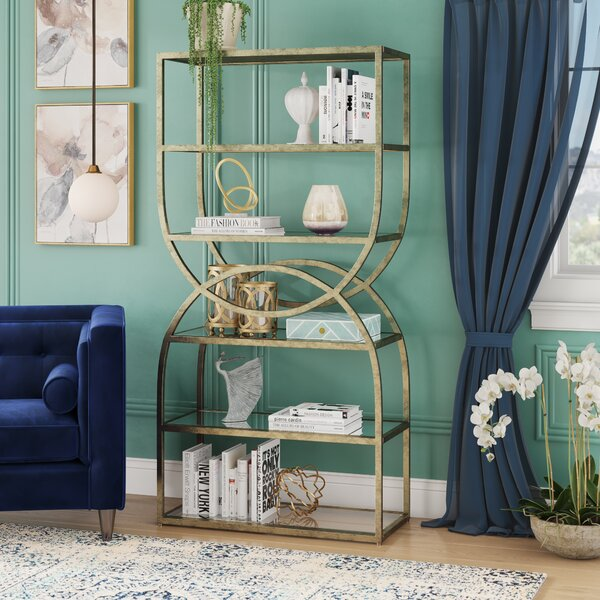 Kemmer Intersecting Rounds Etagere Bookcase by Willa Arlo Interiors