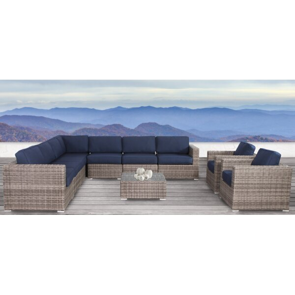 Lazaro 10 Piece Sectional Seating Group with Sunbrella Cushions by Sol 72 Outdoor
