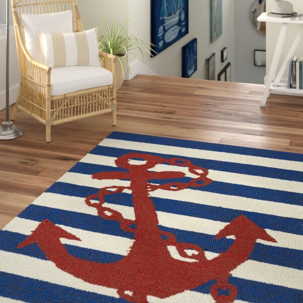 Sereno Handmade Blue Indoor/Outdoor Area Rug by Beachcrest Home