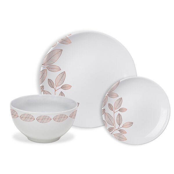 Minnis Foliage 12 Piece Dinnerware Set, Service for 4 by Wrought Studio