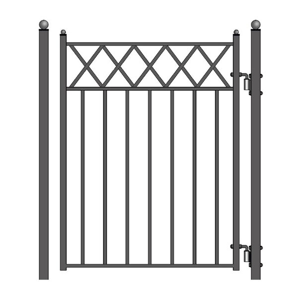 5 ft. H x 4.5 ft. W Stockholm Steel Pedestrian Gate by ALEKO
