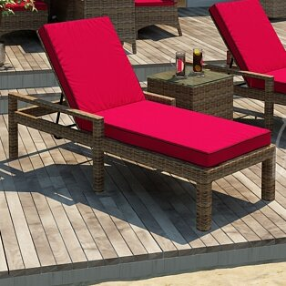 Demetra Chaise Lounge with Cushion by Highland Dunes Highland Dunes