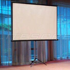 Tripod Series White Portable Projection Screen by Elite Screens