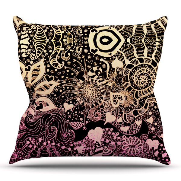 Neptunes Garden by Monika Strigel Outdoor Throw Pillow by East Urban Home