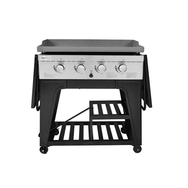 Cooking Station 4 Burner Liquid Propane Gas Grill with Side Table by Royal Gourmet Corp