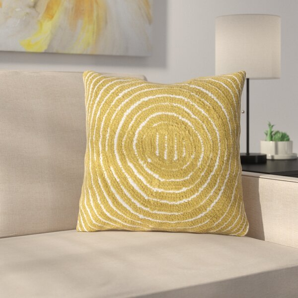 Mack Geometric Circle Throw Pillow by Latitude Run