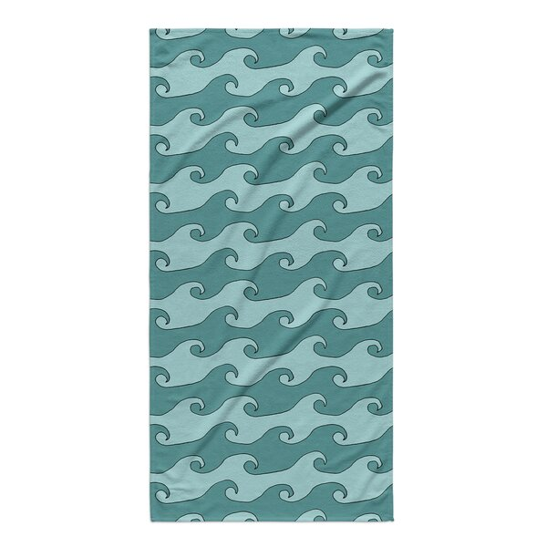 Turquoise/Teal Beach Towel by Rosecliff Heights