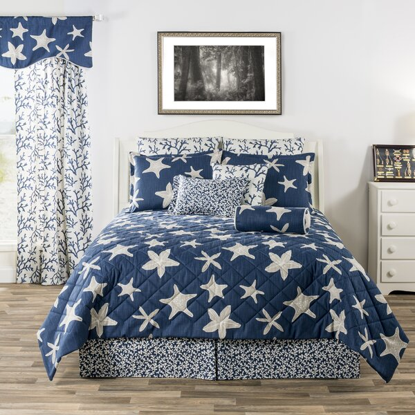 Kamille Palm Beach Tropical Starfish and Corals Quilt Set
