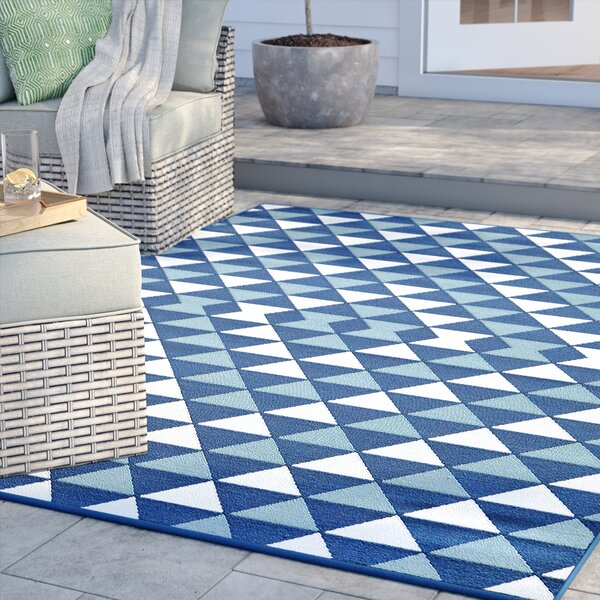 Amora Hand-Woven Blue Indoor/Outdoor Area Rug by Sol 72 Outdoor