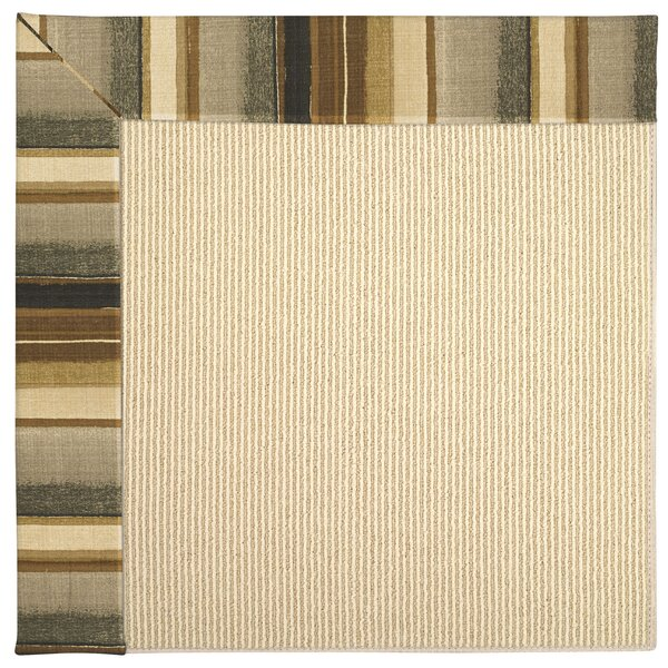 Lisle Machine Tufted Cinders/Brown Indoor/Outdoor Area Rug by Longshore Tides