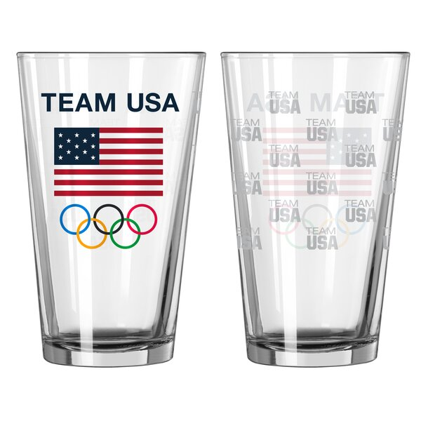 Olympics 16 Oz. Glass Pint Glasses (Set of 2) by Boelter Brands
