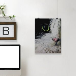 'Tuxedo Cat' Print by East Urban Home