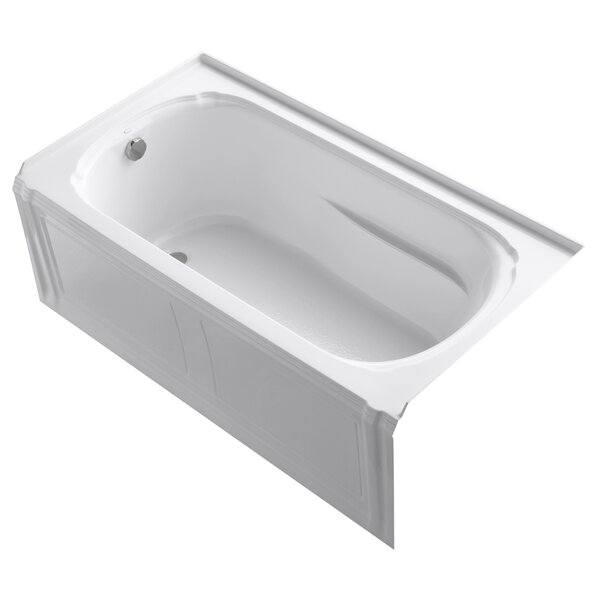 Portrait 60 x 32 Alcove Bath with Integral Apron and Integral Flange and Left-Hand Drain by Kohler