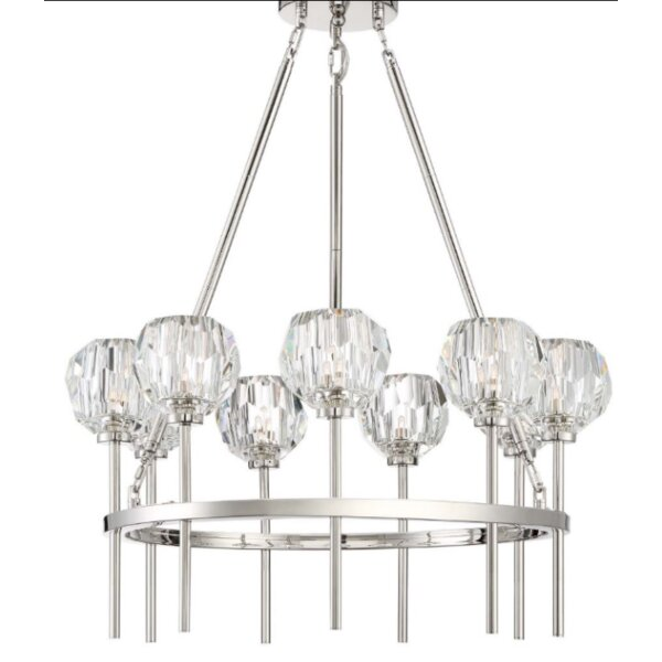 Gerdes 9 - Light Shaded Wagon Wheel Chandelier by Everly Quinn Everly Quinn