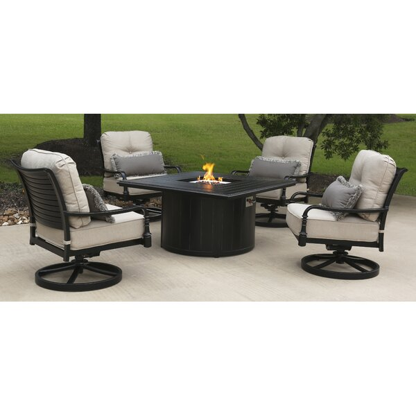 Isbrand 5 Piece Sunbrella Multiple Chairs Seating Group by Red Barrel Studio Red Barrel Studio