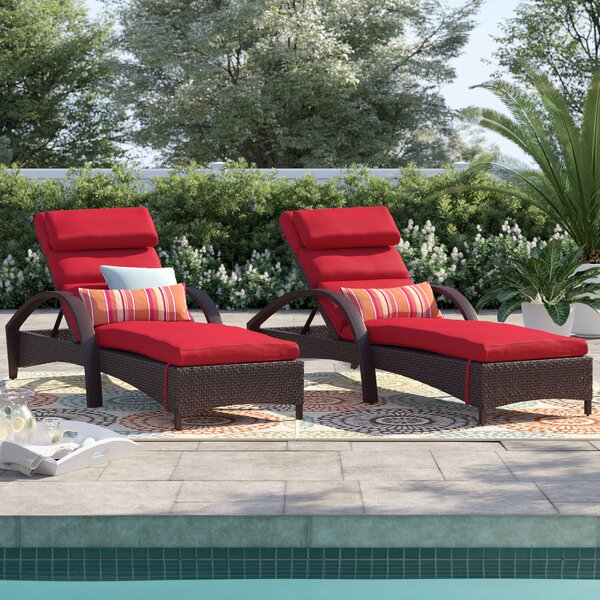 Cerralvo Contemporary Reclining Chaise Lounge Set (Set of 2) by Sol 72 Outdoor Sol 72 Outdoor