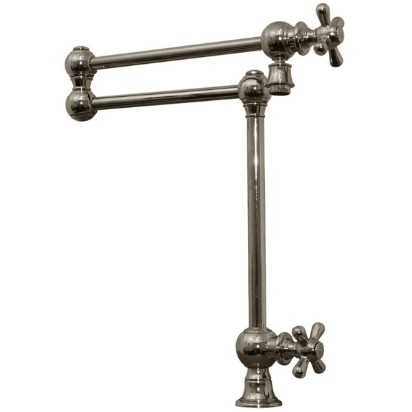 Vintage III Patented Deck Mount Two Handle Single Hole Pot Filler with Cross Handles and a Swivel Aerator by Whitehaus Collection Whitehaus Collection