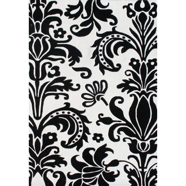 Ophir Hand-Tufted White/Black Area Rug by The Conestoga Trading Co.