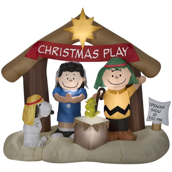 Peanuts Nativity Scene Inflatable by The Holiday Aisle