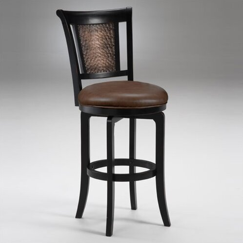 Cecily Black Swivel Counter Stool by Hillsdale Furniture