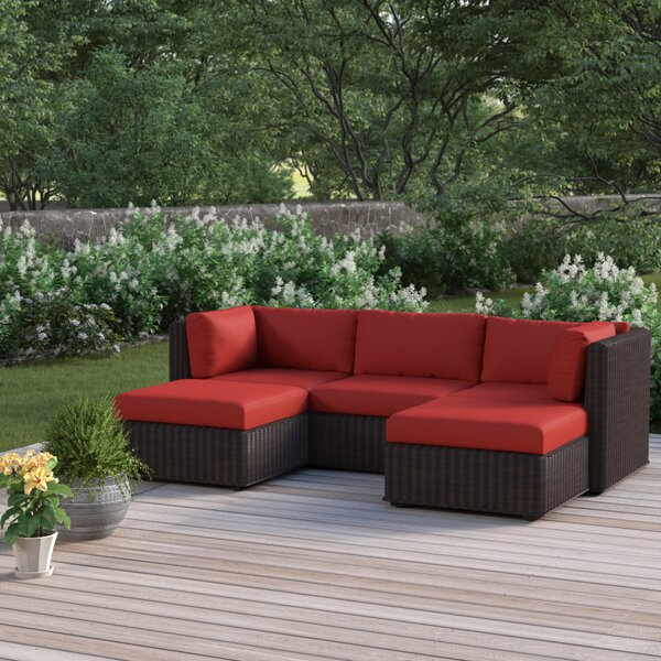 Fairfield 5 Piece Rattan Sofa Seating Group with Cushions by Sol 72 Outdoor