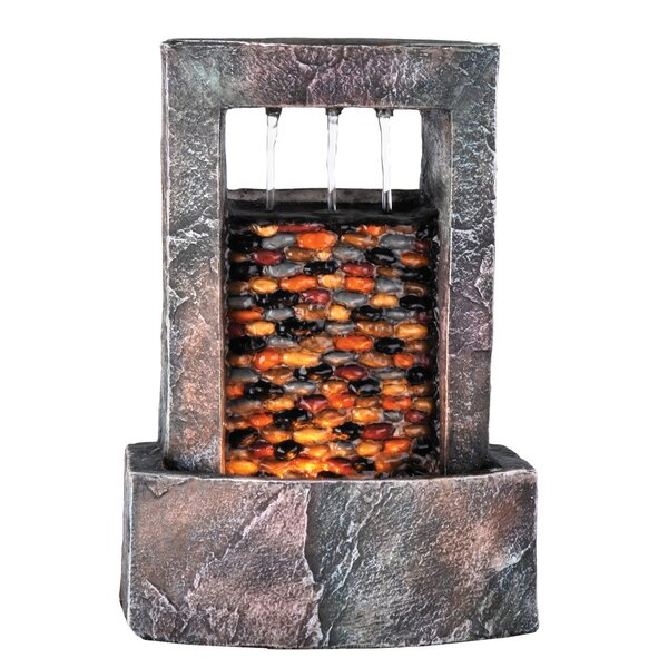 Resin Brickwall Fountain with Light by OK Lighting