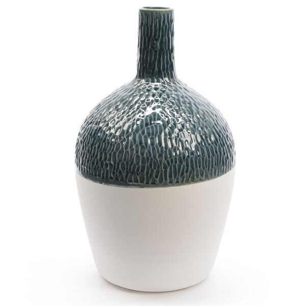 Botanic Beauty Wavy Ceramic Decorative Earthenware Vase by Northlight Seasonal