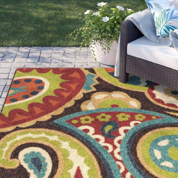 Margarita Brown Indoor/Outdoor Area Rug by Sol 72 Outdoor