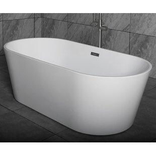Reviews Mize 67 x 31.5 Freestanding Soaking Bathtub ByOrren Ellis