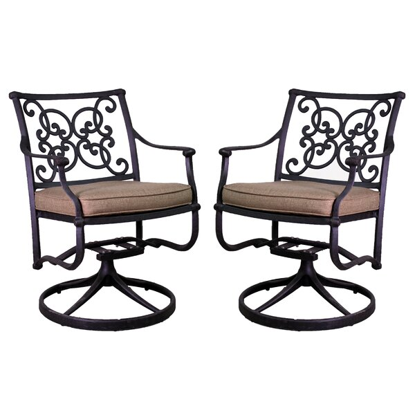 Fisher Patio Chair with Cushion (Set of 2) by Three Posts