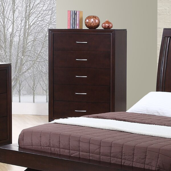 Best #1 Linkwood 5 Drawer Chest By Wrought Studio Savings