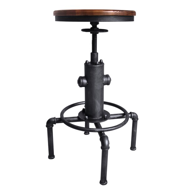 Blum Adjustable Swivel Bar Stool by Williston Forge