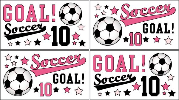 Soccer Pink Wall Decal by Sweet Jojo Designs
