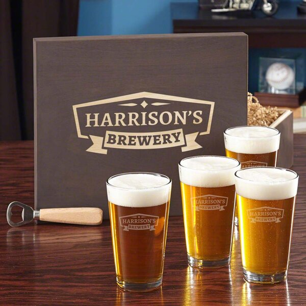 Classic Brewery 5 Piece Glass Glassware Set by Home Wet Bar