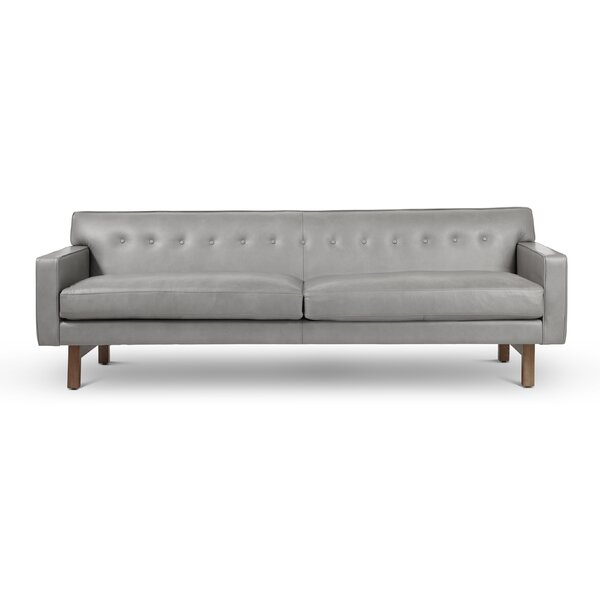 Leland Leather Sofa by Modern Rustic Interiors