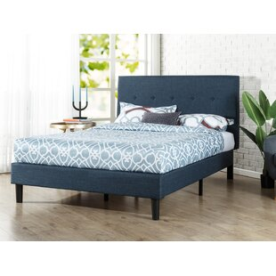 Roye On Detailed Upholstered Platform Bed
