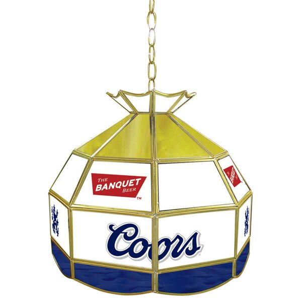 Coors Banquet Stained Glass 16 Tiffany Lamp by Trademark Global