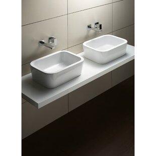 Bargain Traccia Ceramic Rectangular Vessel Bathroom Sink ByGSI Collection