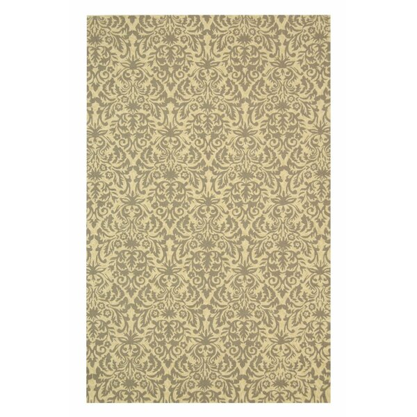 Ringwood Hand-Hooked Blue/Beige Area Rug by House of Hampton