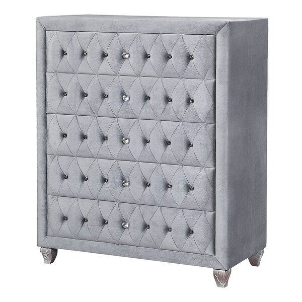 Carrie 5 Drawer Chest by Rosdorf Park