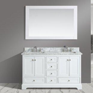 Castellanos 60 Double Bathroom Vanity Set with Mirror ByCharlton Home