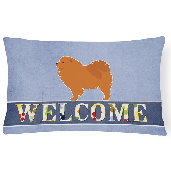 Earlville Chow Chow Welcome Lumbar Pillow by Red Barrel Studio