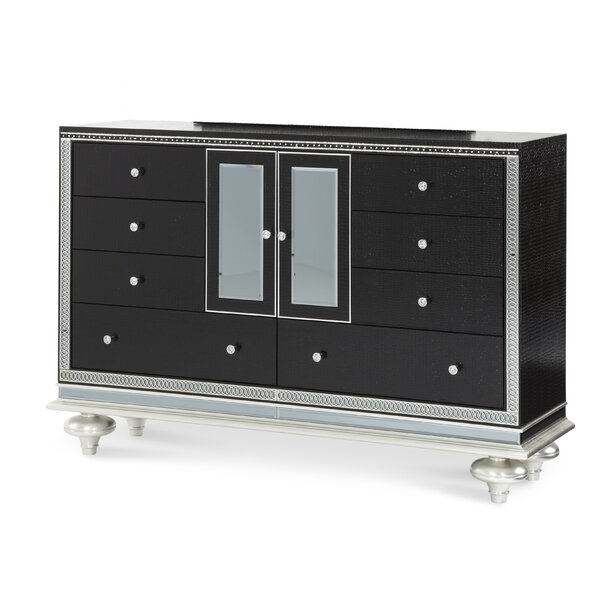 Hollywood Swank Starry Night 8 Drawer Combo Dresser by Michael Amini
