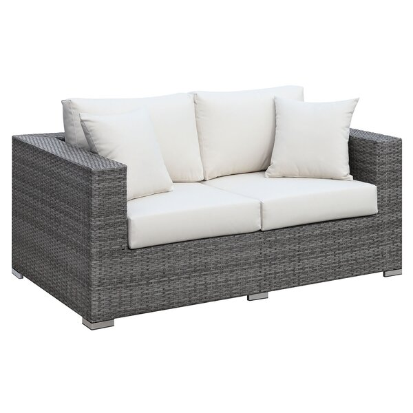 Hilton Loveseat with Cushions by Rosecliff Heights