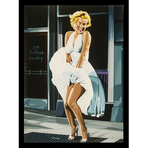 'Marilyn Monroe the Seven-Year Itch' by Karl Black Framed Painting Print by Buy Art For Less